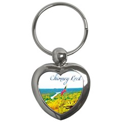 Chimney Rock Overlook Air Brushed Key Chain (heart)
