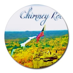 Chimney Rock Overlook Air Brushed 8  Mouse Pad (round)