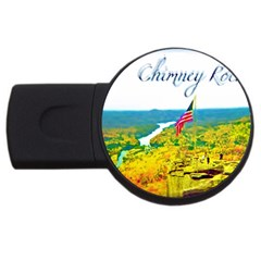 Chimney Rock Overlook Air Brushed 2gb Usb Flash Drive (round)