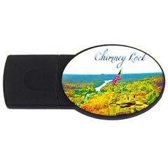 Chimney Rock Overlook Air Brushed 4gb Usb Flash Drive (oval)