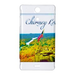 Chimney Rock Overlook Air Brushed Sony Xperia TX Hardshell Case