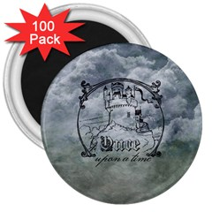 Once Upon A Time 3  Button Magnet (100 pack)