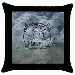 Once Upon A Time Black Throw Pillow Case