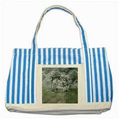 Once Upon A Time Blue Striped Tote Bag