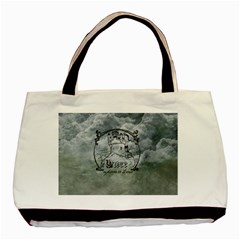 Once Upon A Time Twin-sided Black Tote Bag