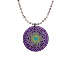Radial Mandala Button Necklace