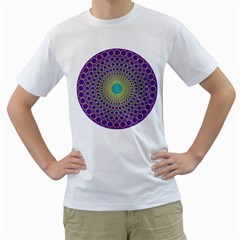 Radial Mandala Men s T-Shirt (White)