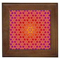 Radial Flower Framed Ceramic Tile