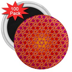 Radial Flower 3  Button Magnet (100 pack)