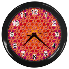 Radial Flower Wall Clock (black)