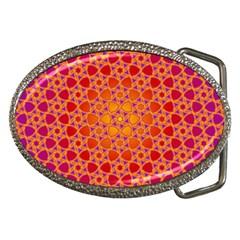 Radial Flower Belt Buckle (Oval)