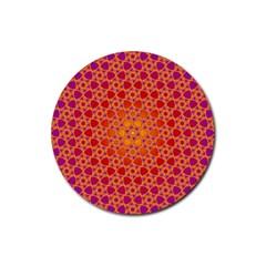 Radial Flower Drink Coaster (Round)