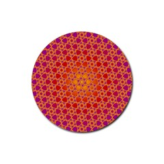 Radial Flower Drink Coasters 4 Pack (Round)