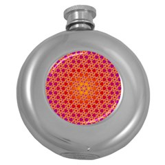 Radial Flower Hip Flask (Round)