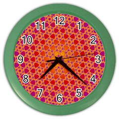 Radial Flower Wall Clock (Color)