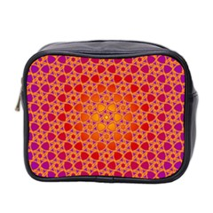 Radial Flower Mini Travel Toiletry Bag (Two Sides)
