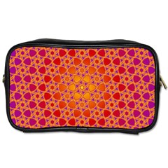 Radial Flower Travel Toiletry Bag (Two Sides)