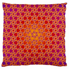 Radial Flower Large Cushion Case (Single Sided)
