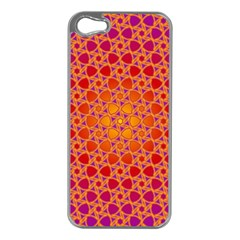 Radial Flower Apple iPhone 5 Case (Silver)