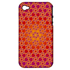 Radial Flower Apple Iphone 4/4s Hardshell Case (pc+silicone)