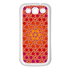 Radial Flower Samsung Galaxy S3 Back Case (white)
