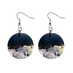 Atlantic Ocean Mini Button Earrings