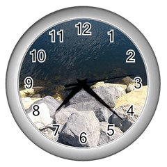 Atlantic Ocean Wall Clock (Silver)