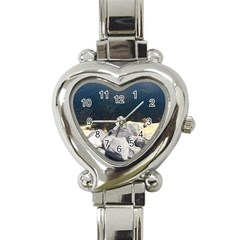 Atlantic Ocean Heart Italian Charm Watch
