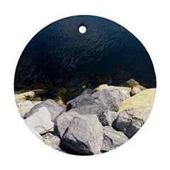 Atlantic Ocean Round Ornament (Two Sides)