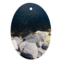 Atlantic Ocean Oval Ornament (Two Sides)