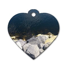Atlantic Ocean Dog Tag Heart (One Sided)