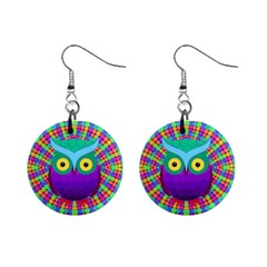 Groovy Owl Mini Button Earrings