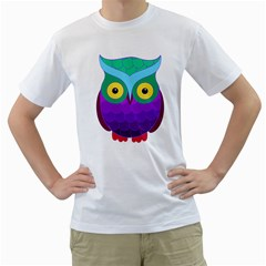 Groovy Owl Men s T-Shirt (White)