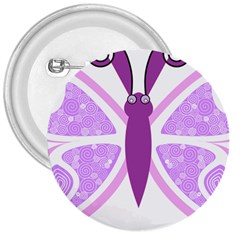 Whimsical Awareness Butterfly 3  Button