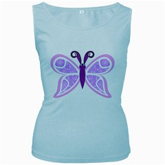 Whimsical Awareness Butterfly Women s Tank Top (Baby Blue)