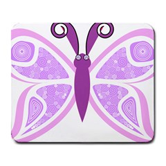 Whimsical Awareness Butterfly Large Mouse Pad (rectangle)