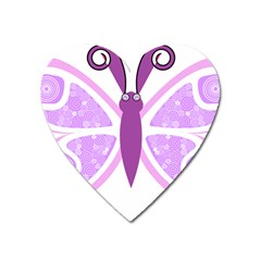 Whimsical Awareness Butterfly Magnet (Heart)