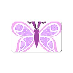 Whimsical Awareness Butterfly Magnet (name Card)