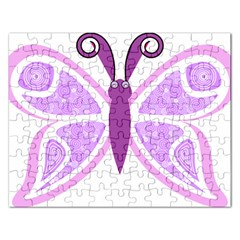 Whimsical Awareness Butterfly Jigsaw Puzzle (rectangle)