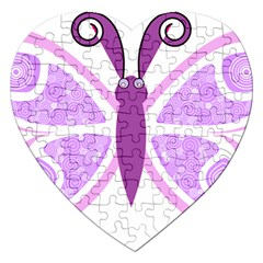 Whimsical Awareness Butterfly Jigsaw Puzzle (Heart)