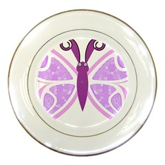Whimsical Awareness Butterfly Porcelain Display Plate