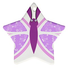 Whimsical Awareness Butterfly Star Ornament (Two Sides)