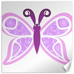 Whimsical Awareness Butterfly Canvas 12  x 12  (Unframed)