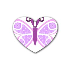 Whimsical Awareness Butterfly Drink Coasters (Heart)