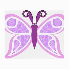 Whimsical Awareness Butterfly Glasses Cloth (Small, Two Sided)