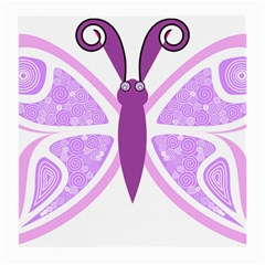 Whimsical Awareness Butterfly Glasses Cloth (Medium, Two Sided)