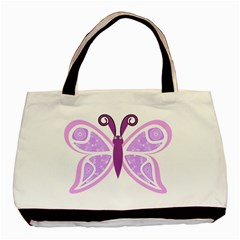 Whimsical Awareness Butterfly Twin-sided Black Tote Bag
