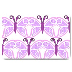Whimsical Awareness Butterfly Large Door Mat