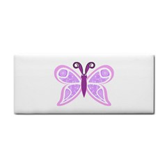 Whimsical Awareness Butterfly Hand Towel