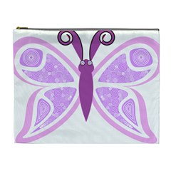 Whimsical Awareness Butterfly Cosmetic Bag (xl)